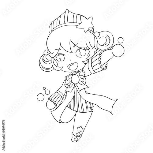 Star Fairy Line Art Character Design Kaufen Sie Diese