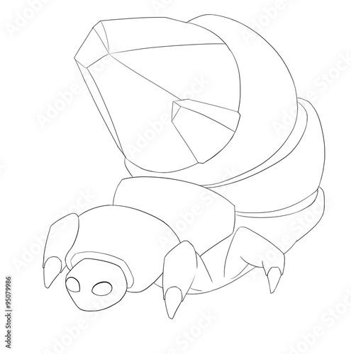 Gem Bug Line Art