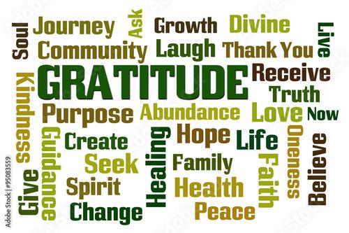 Photo  Gratitude Word Cloud