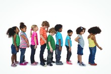 Group Of Kids Standing In A Line