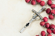 Catholic Rosary With Copy-space