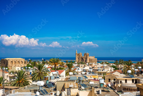 Wall Murals Northern Europe Old town of Famagusta (Gazimagusa), Cyprus. High elivated view