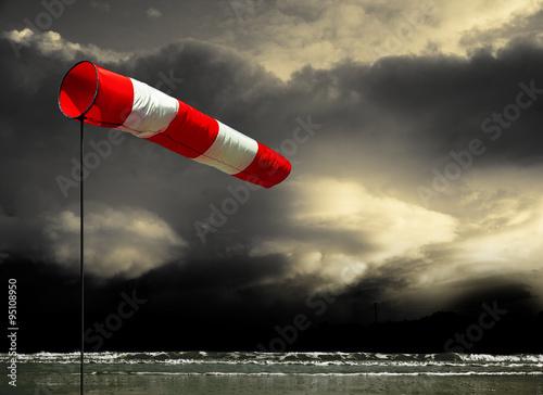 Fotografia, Obraz Sturmwarnung an der Küste