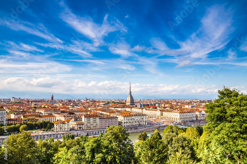 Carta da parati View of Turin city centre-Turin,Italy