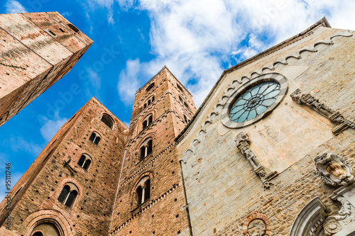 Photo sur Aluminium Ligurie Albenga Cathedral-Albenga,Savona,Liguria,Italy