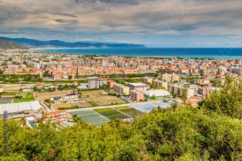 Canvas Print City of Albenga- Albenga, Savona, Liguria, Italy
