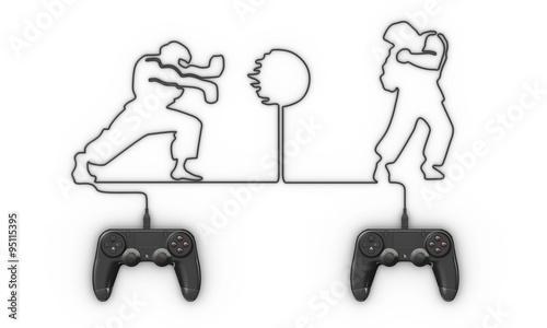 Photo  jeux vidéo de combat