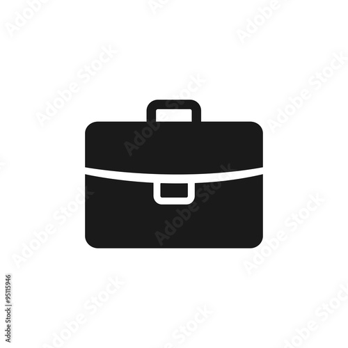 Briefcase icon, vector illustration. Flat design style Canvas Print