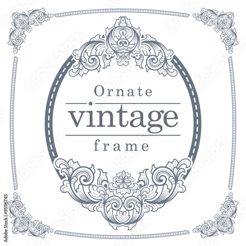 Vintage frames for text input. - Buy this stock vector and explore ...