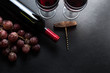 Red wine border background