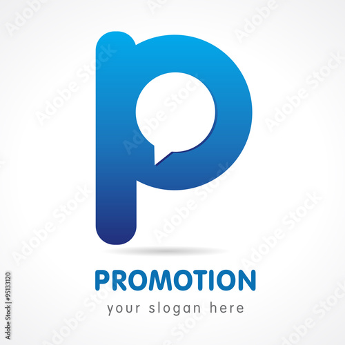 Promotion P Logo Abstract Letter P Logo Design Template
