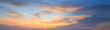 Leinwandbild Motiv Natural background panorama of the gold color sky , During the t