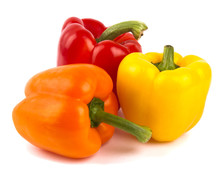 Three Coloured Bell Peppers
