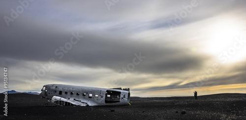 Photo  Flugzeugwrack auf Island