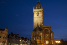 Old Town Hall Tower In Old Town Square, Prague; Czech Republic;