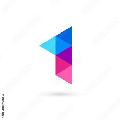 Obraz Number one 1 flag logo icon design template elements - fototapety do salonu