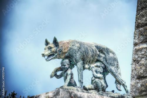 Fotografie, Tablou Siena she-wolf statue