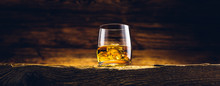 Whiskey Glass On The Old Woode...
