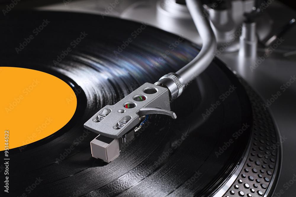 Fotografía Disco de vinilo y tocadiscos / Vinyl record and record ...