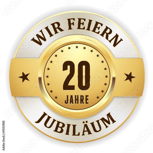 Fotografia  Goldener 20 Jahre Jubiläum Siegel