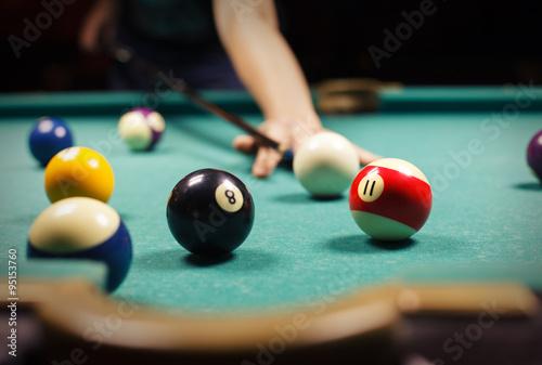man playing billiard Fototapeta