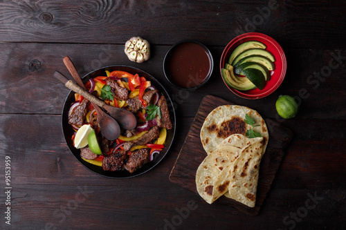 Photo  Beef fajitas