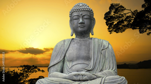 Poster Boeddha The Great Buddha Daibutsu in Japan