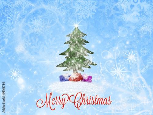 Spoed Fotobehang Lichtblauw Merry Christmas greeting card. Christmas background.