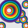 Bright background with rainbow colorful circles.