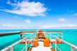 Sea, pier, landscape. Okinawa, Japan.