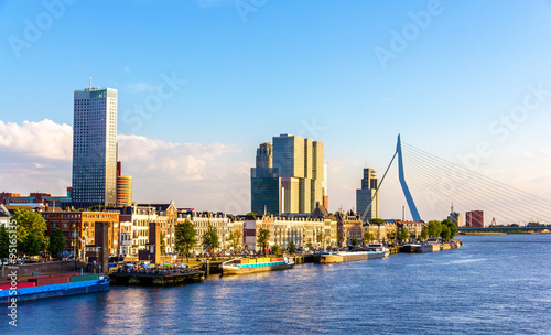 Foto op Canvas Rotterdam Buildings on the embankment of Rotterdam - the Netherlands