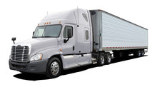 White Truck Freightliner Colum...