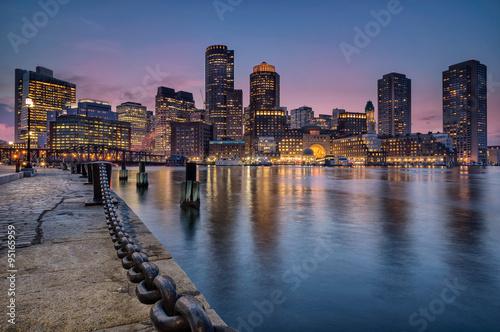 Fotografie, Obraz  Boston waterfront and harbor