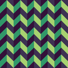 Vector Modern Seamless Colorful Geometry Chevron Lines Pattern, Color Blue Green Abstract Geometric Background, Trendy Multicolored Print, Retro Texture, Hipster Fashion Design