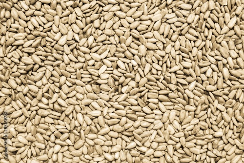 the cleared sunflower seeds