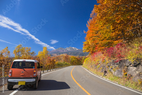 Fotografie, Obraz  乗鞍岳にドライブ