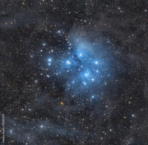 Foto op Canvas UFO Milky way stars.