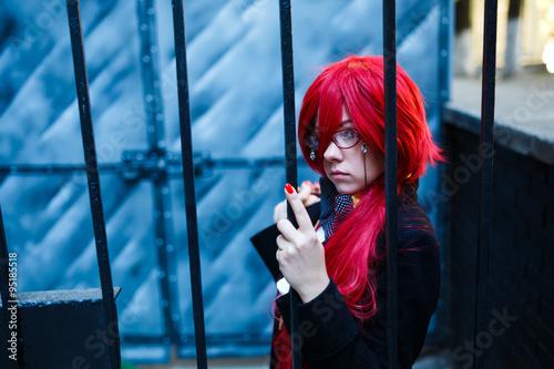Fotografie, Obraz  Portrét dívky cosplay