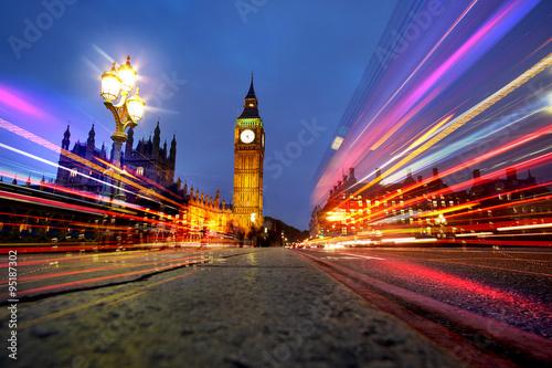 Plakat Londyn nocą