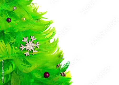 Photo Stands Roe Christmas tree isolated