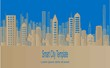 Smart city concept. Vector papercut illustration