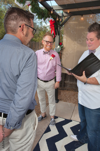 Fotografija  Gay Couple Married by Magistrate