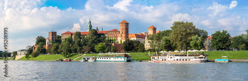 Wawel castle in Kracow #95208995
