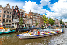 Amsterdam Canals And  Boats, H...