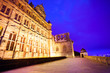 canvas print picture - Beautiful facade of Heidelberg castle during night