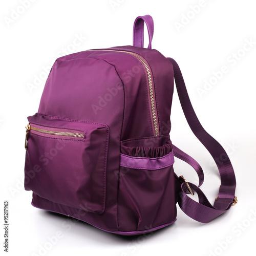 Obraz Purple Backpack Isolate - fototapety do salonu