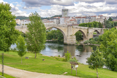 Roman bridge in Ourense