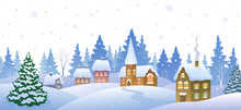 Winter Small Town Banner