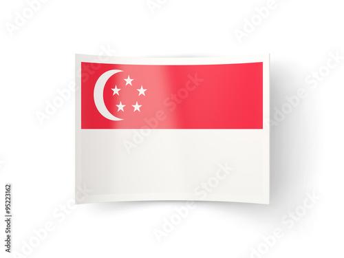 Photo  Bent icon with flag of singapore
