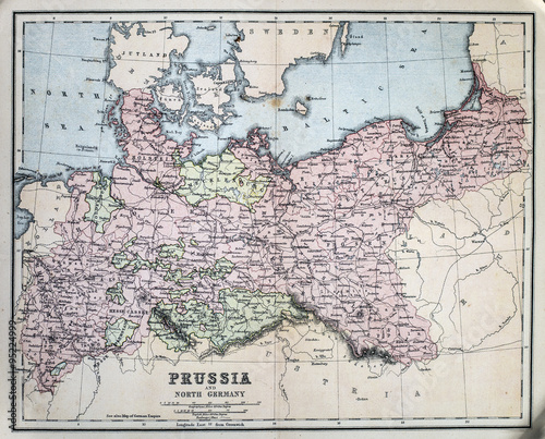 Photo Map of 19th Century Prussia